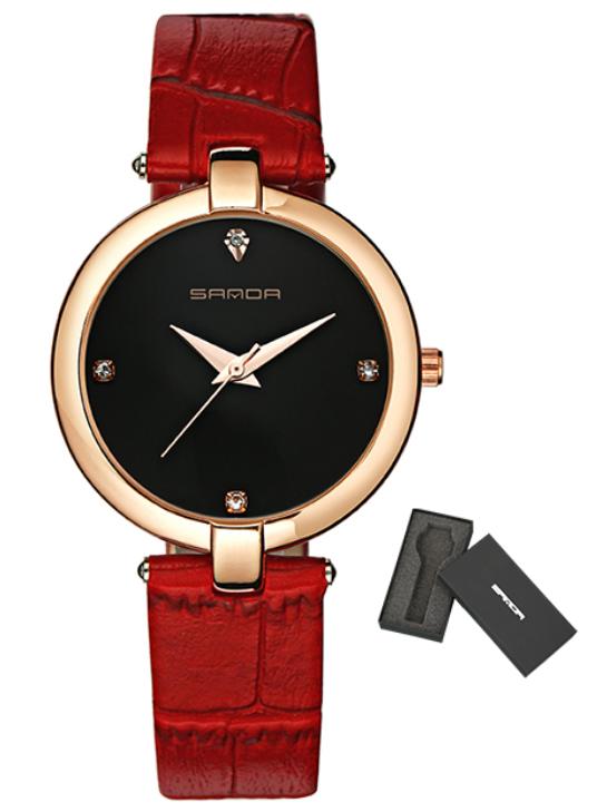 Женские часы Sanda P196 Red/Black
