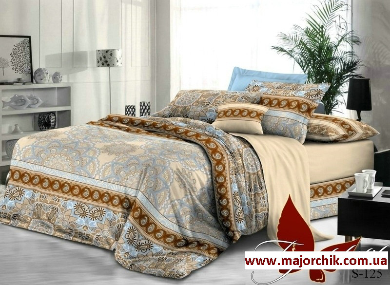 Комплект постельного белья 2-спальный сатин Абстракция