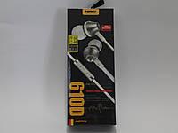Наушники c микрофоном 3,5мм Remax 610D Silver-White Copy