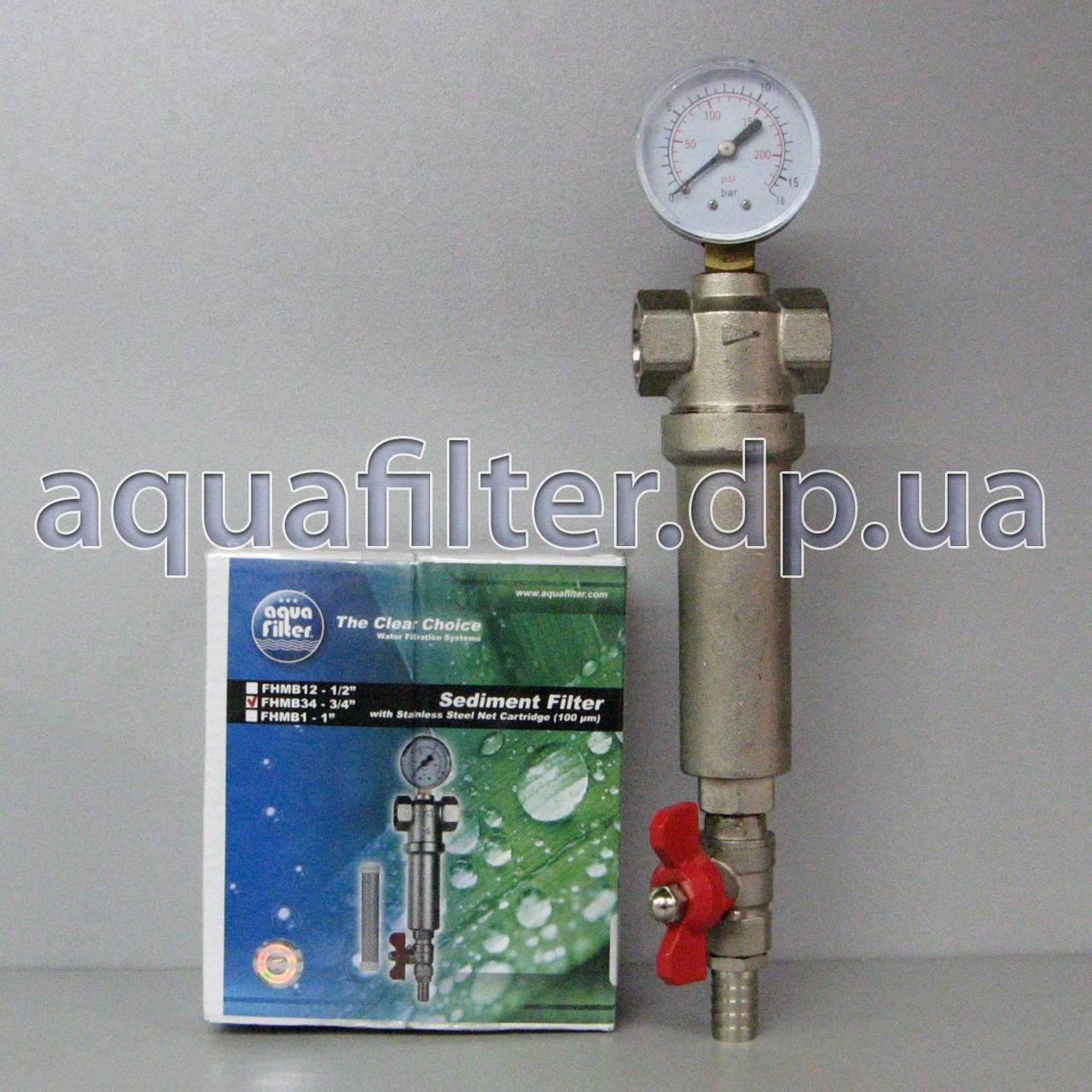 """Самопромывной фильтр для воды Aquafilter FHMB12_X 1/2"""""""