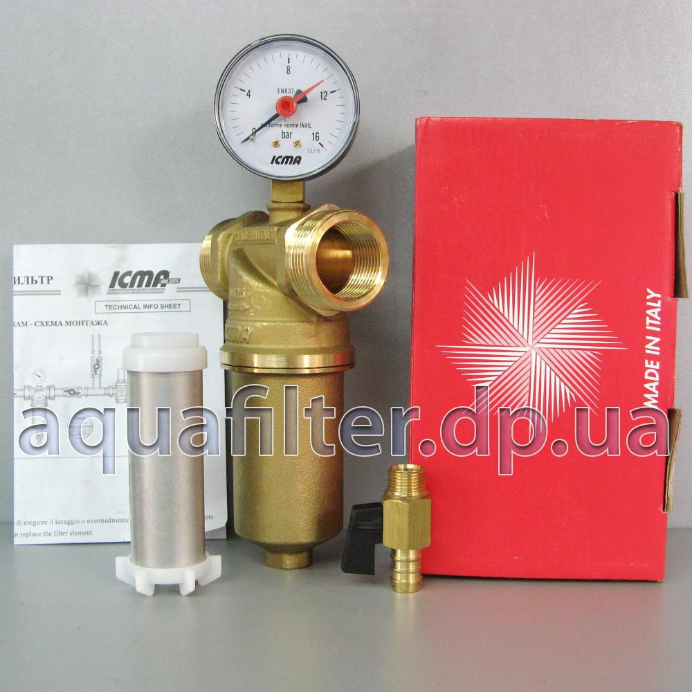 """Самопромывной фильтр для воды ICMA 750 1"""""""