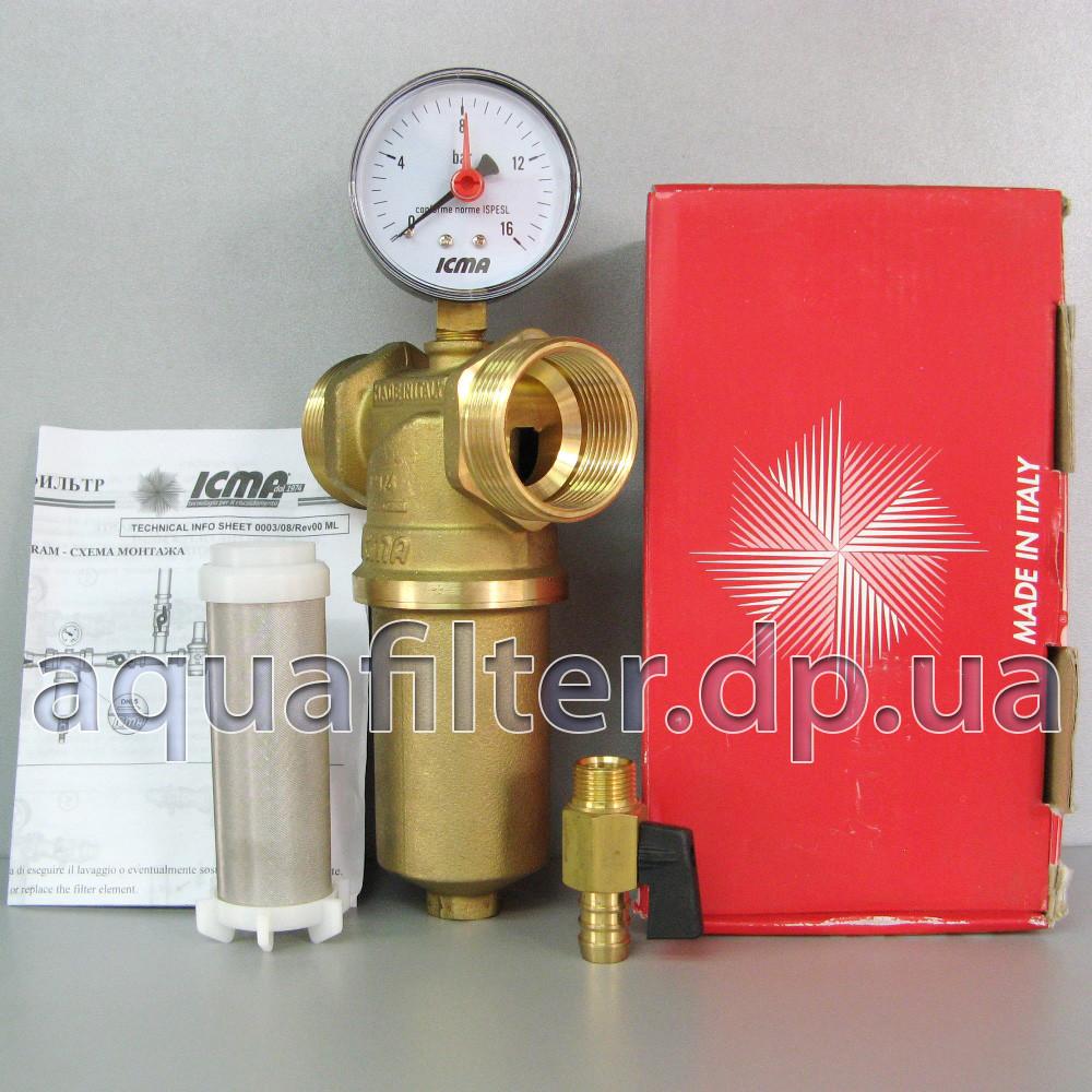 """Самопромывной фильтр для воды ICMA 750 1"""" 1/4"""