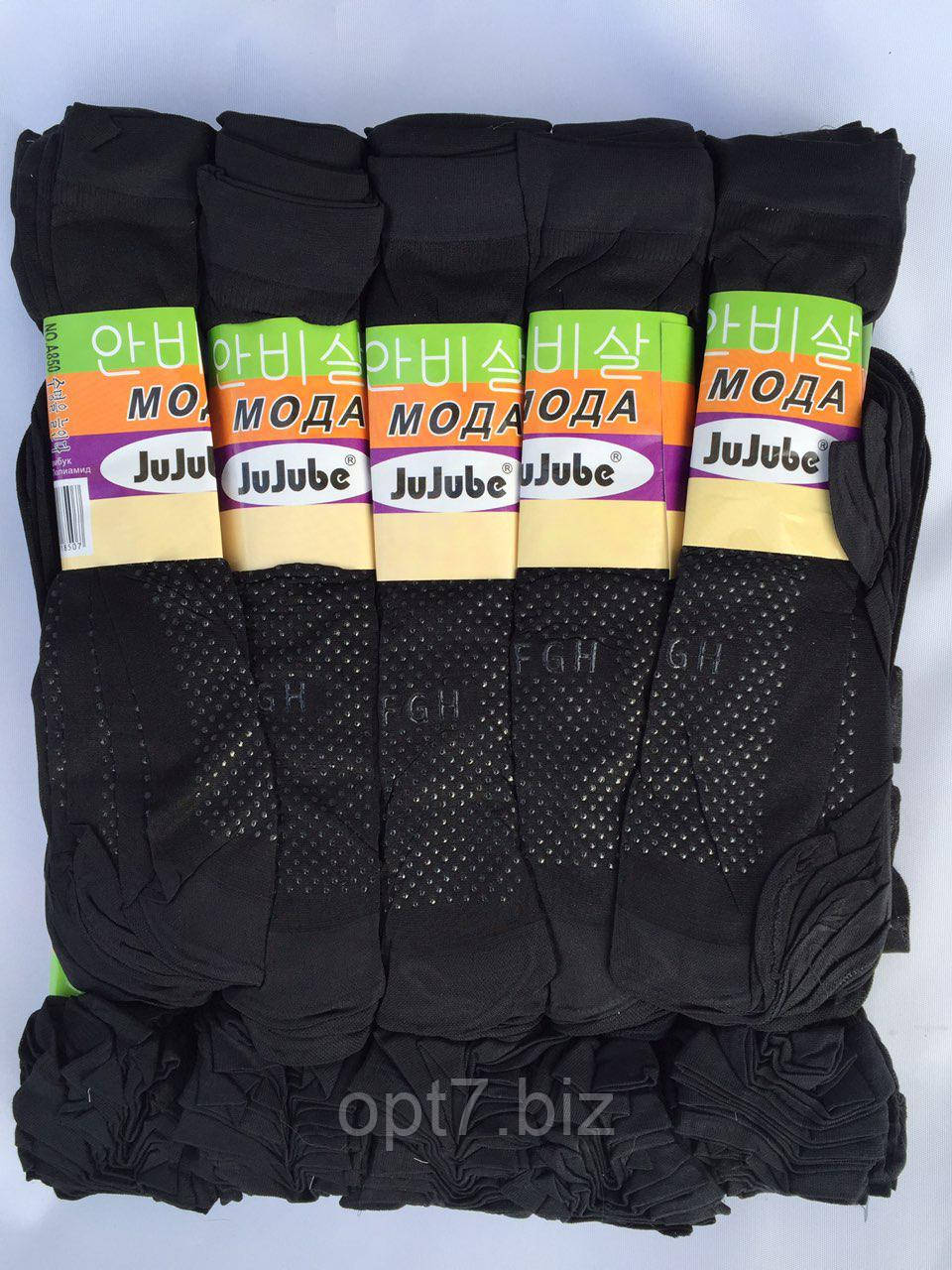 Носки капроновые с тормозками JuJube Черные