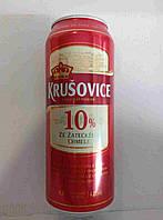 Пиво светлое Krusovice Original 10% 0.5 банка