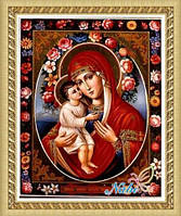 """Алмазная вышивка икона Божьей Матери """"Отрада и Утешение"""""""