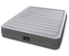 Надувная двуспальная велюровая кровать Intex 64414 со встроенным насосом, фото 3