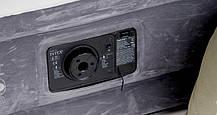 Надувная двуспальная велюровая кровать Intex 64414 со встроенным насосом, фото 2