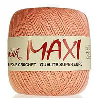 Турецкая пряжа для вязания   Madame Tricote Maxi (МАКСИ) летний мерсеризованный хлопок  322 персик