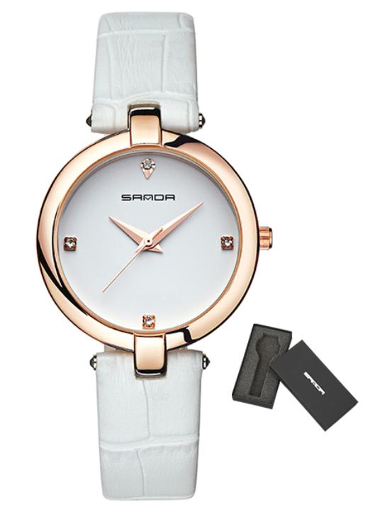 Женские часы Sanda P196 White/White