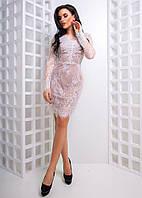 Женское платье французское кружево