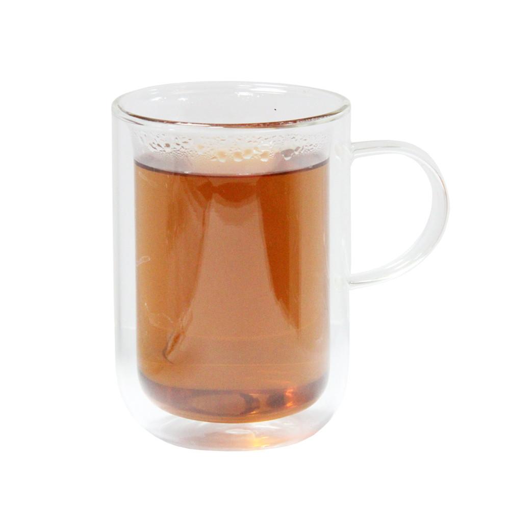 Чашка скляна з подвійними стінками Стильна 250 мл