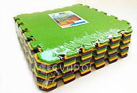 Мягкий пол  пазл детский коврик ТермоПол Микс 480*480*10мм 12 элементов