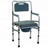 Складной стул-туалет с мягким сиденьем OSD-LY901,Стул-туалет для инвалидов