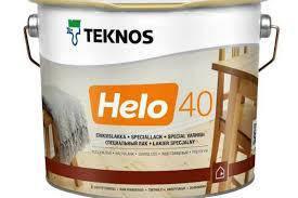 Лак паркетный TEKNOS helo 40 2.7 л. полуглянцевый Текнос хело  40