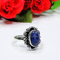 Кианит кольцо с камнем кианит в серебре 17.5 размер, фото 1