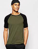 Молодёжная мужская футболка с основой цвета хаки