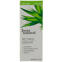 InstaNatural, Retinol Serum with Hyaluronic Acid + Vitamin C, Anti-Aging, 0.17 fl oz (5 ml)