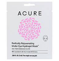 Acure Organics, Radically Rejuvenating Under Eye Hydrogel Mask, 2 Single Use Eye Gels, 0.236 fl oz (7 ml)