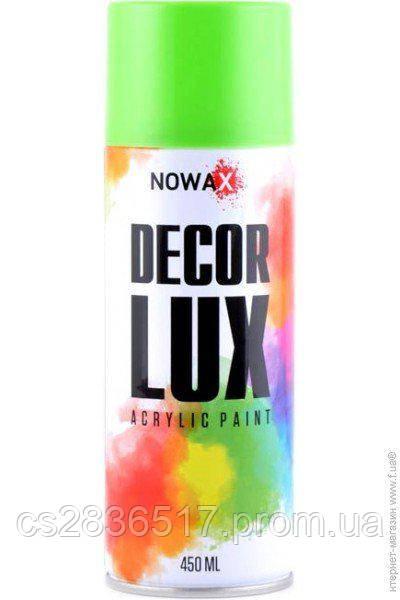 Краска NOWAX DECOR LUX 6018  светло-зеленый  450ml