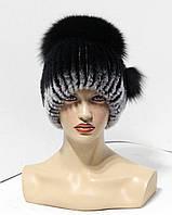 Меховые шапки из комбинированного меха песца и rex rabbit
