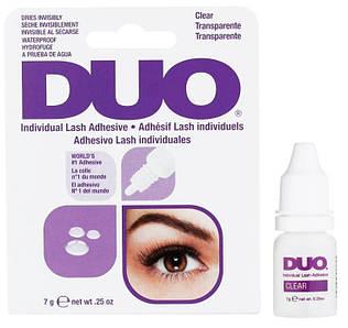 Клей для пучковых ресниц DUO Individual Lash Adhesive 7 гр. CLEAR