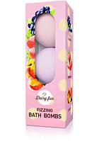 Шипящие ароматические шары для ванн DAIRY FUN, 3 * 100 г  Delia Cosmetics    Черника&Клубника&Персик
