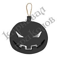 Декор объемный Тыква злая (черная)