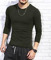 Мужская обтягивающая футболка из эластичной ткани хаки