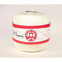 Турецкая пряжа для вязания Madame Tricote Maxi МАКСИ мерсеризованный хлопок 6282 (молочный )
