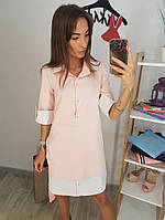 Женское платье рубашка с карманами