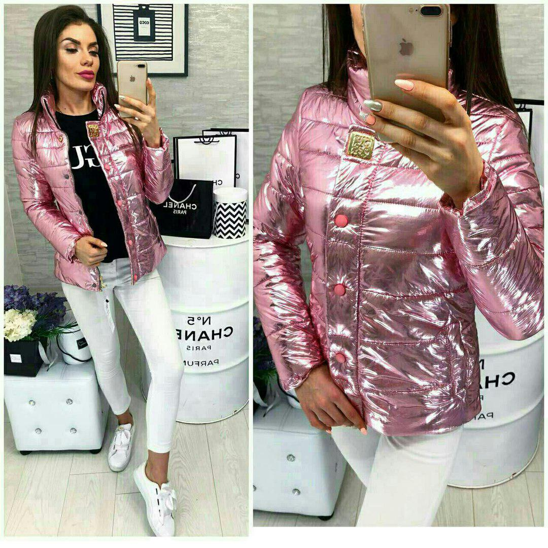 Куртка, модель 211/2, цвет - светло розовый металик
