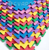 Мягкий пол  пазл детский коврик ТермоЭва 1 элемент 480*480*8 мм