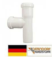 Тройник PP 32/32 х 87º внутренней канализации (белый) Ostendorf HT Германия