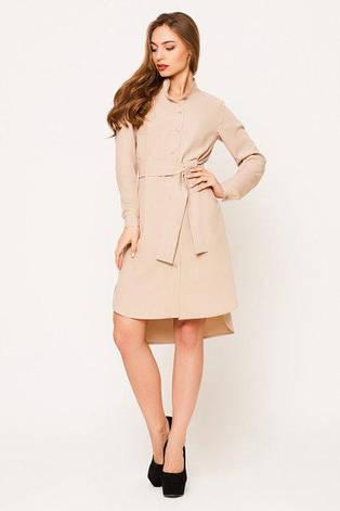 Элегантное повседневное женское платье Евгения цвет бежевый  размер  42, 44, 46, 48 габардин, фото 2