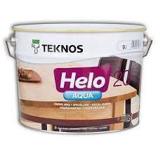 Водний лак TEKNOS helo aqua 20 9 л матовий Текнос хелоу аква 20