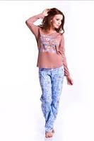Пижама женская Dobranocka 6021 брючная хлопковая