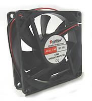 Вентилятор  80-80-25  (12в- 0.18A) SUNFLOW Пластик