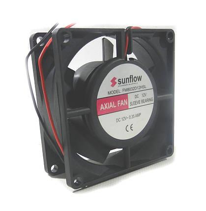 Вентилятор  80-80-32   (12v) Sunflow пластик, фото 2