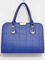 Недорогая каркасная сумка, синяя