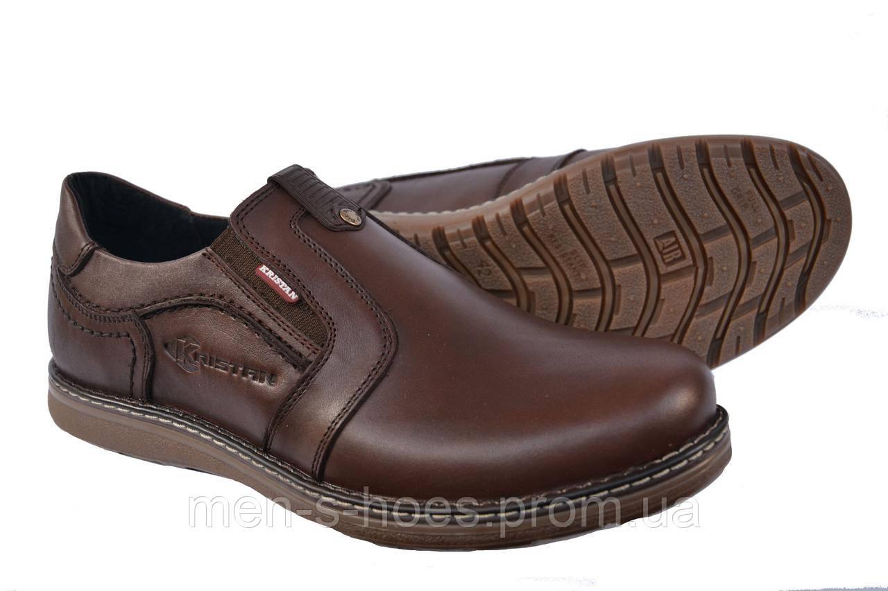 Туфли мужские кожаные Kristan Brown на резинке