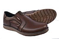Туфли мужские кожаные Kristan Brown на резинке, фото 1