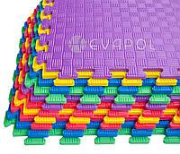 Мягкий пол пазл детский коврик ТАТАМИ 1 элемент 525*525*10 мм