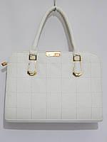 Недорогая каркасная сумка, белая