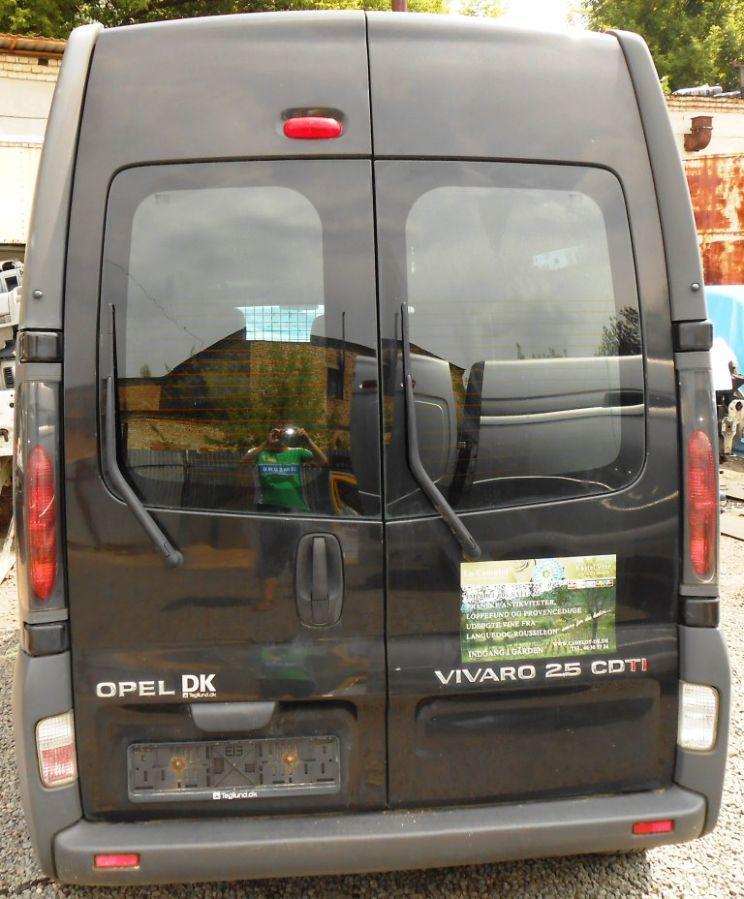 Заднее стекло (распашонка) правая высокая без э.о. на Renault Trafic, Opel Vivaro, Nissan Primastar 01-13