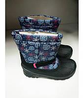 Ботинки Детские Зимние Термо Подростковые на девочку Резиновая калоша