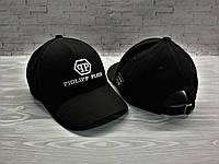 Кепка Филип Плейн Phlipp Plein пятиклинка чёрная (реплика)