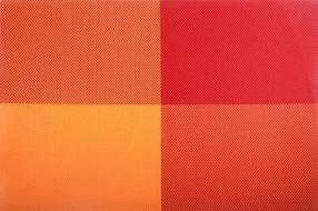 """Салфетка-сет под горячее оранжевая Helios """"4 цвета"""" 30х45см 6910"""