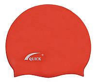 Детская силиконовая шапочка для плавания красного цвета