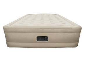 Надувная двуспальная велюровая кровать Bestway 69011 со встроенным насосом, фото 2