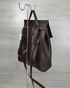 3280aa1ba1ac Молодежный городской сумка-рюкзак шоколадного цвета 44205 : продажа ...